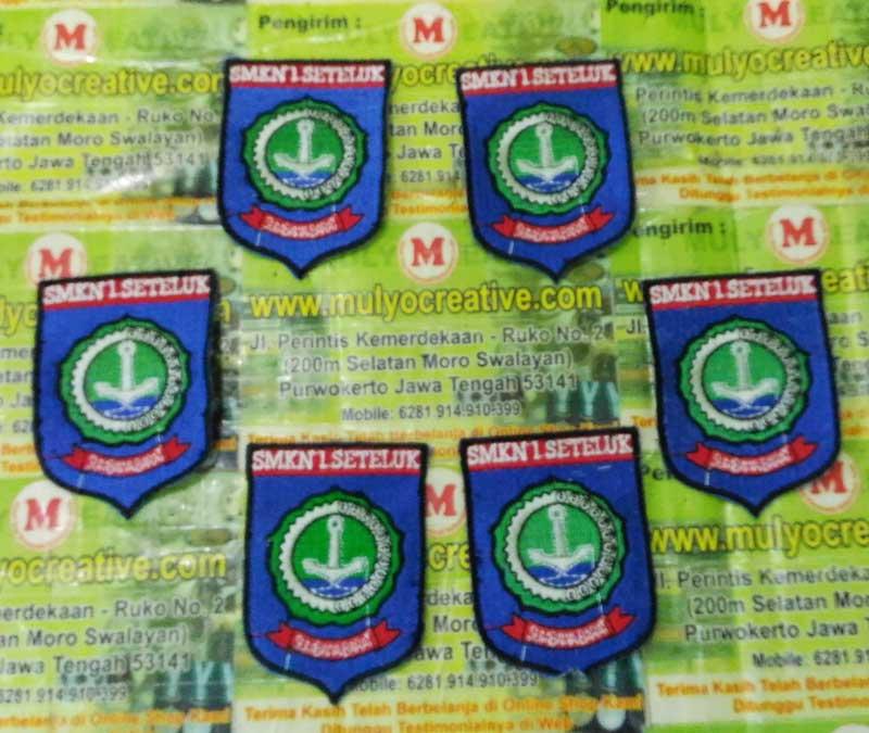 Hasil Bordiran Logo Kec. Seteluk, Kab. Sumbawa Barat, Prop. Nusa Tenggara Barat