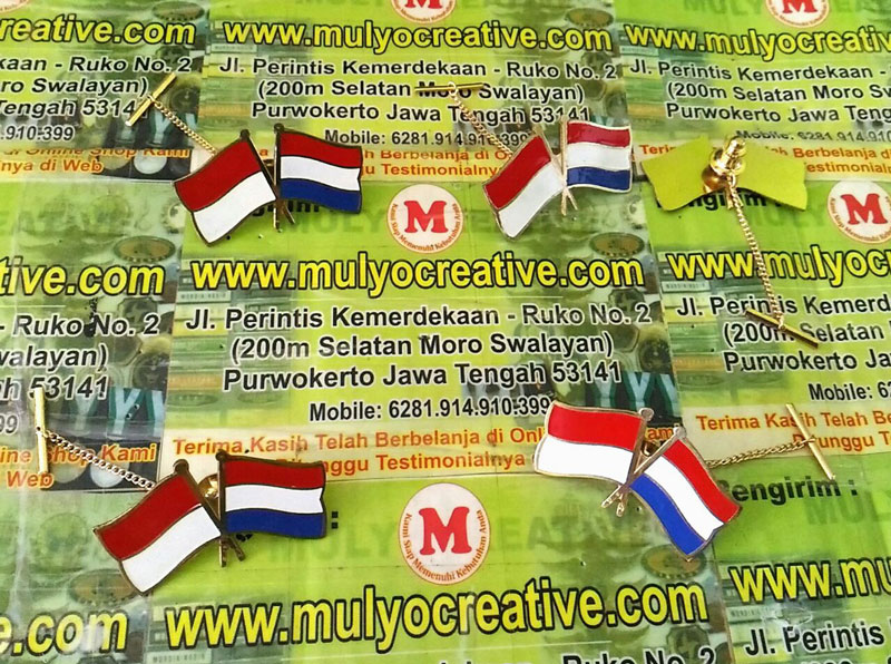 Pin Lencana Bendera Negara Indonesia Belanda