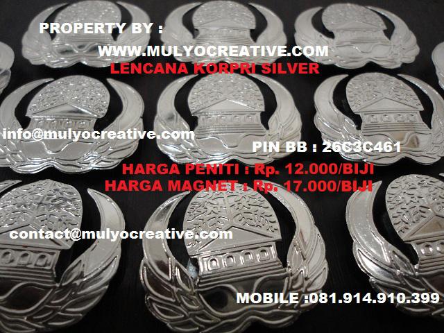 lencana korpri silver