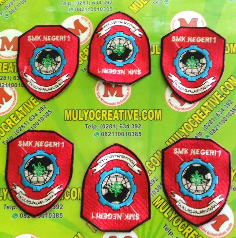 Hasil bordiran Logo SMKN 1 Tanjung Palas Utara Kabupaten Bulungan