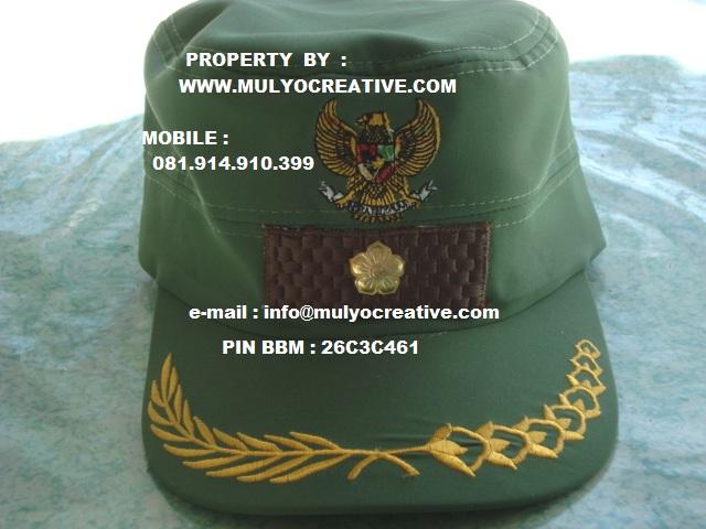 pembuatan topi pegawai,topi lurah, topi pemerintahan