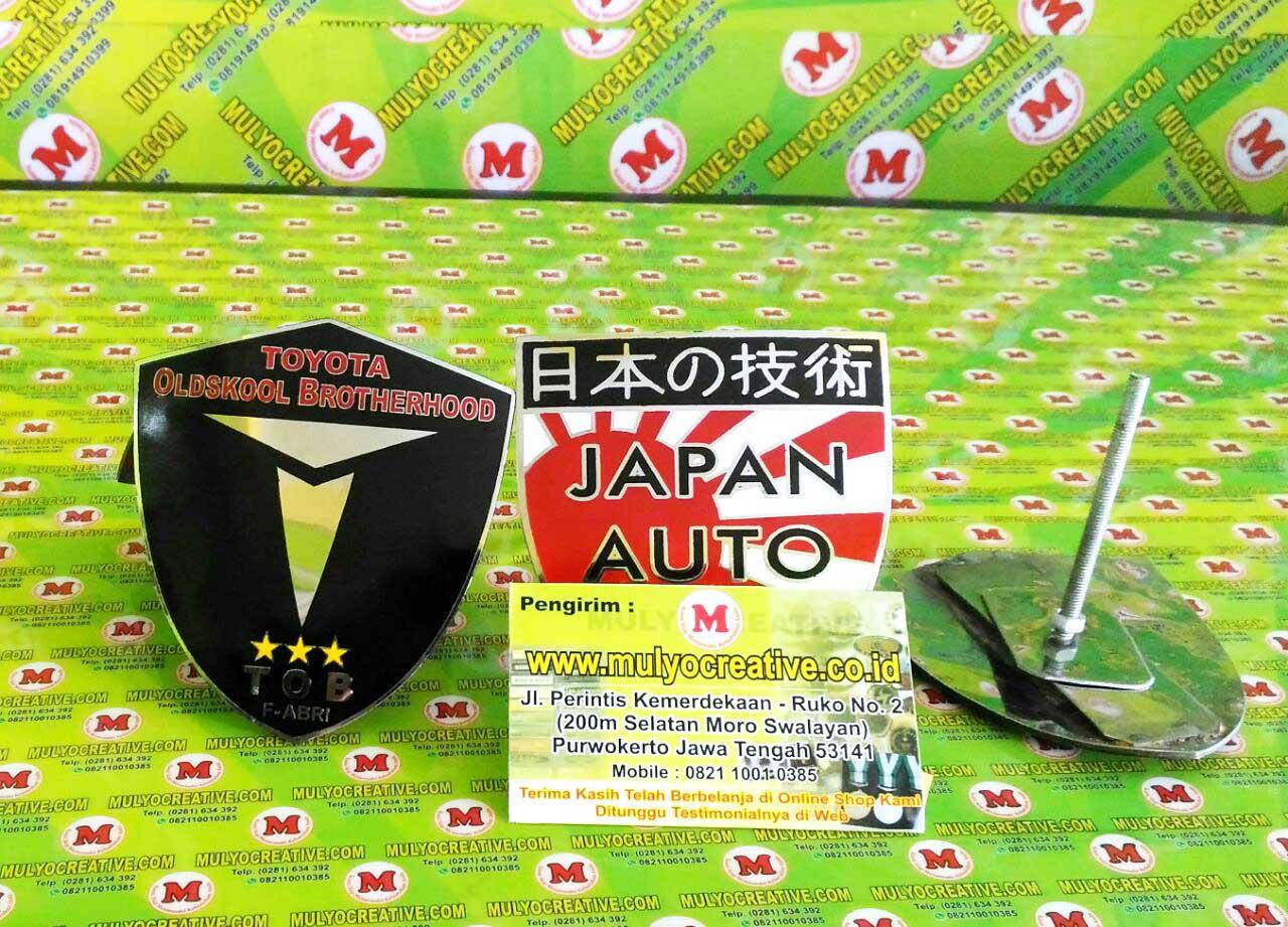 Emblem Grill Mobil, Japan Automobile, Toyota Oldskool Brotherhood