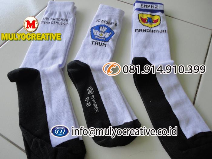 kaos kaki logo sekolah