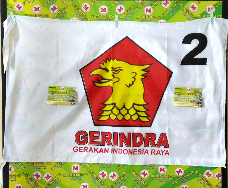 bendera partai gerindra bendera partai sablon harga murah