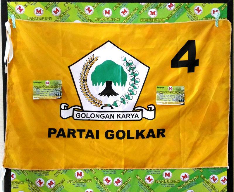 bendera partai golkar bendera partai sablon harga murah