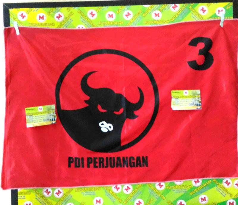 bendera partai pdip bendera partai sablon harga murah