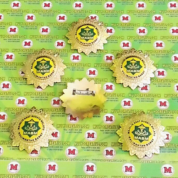 Pesan Pin Logo Majelis Adat Budaya Melayu Kalimantan Barat