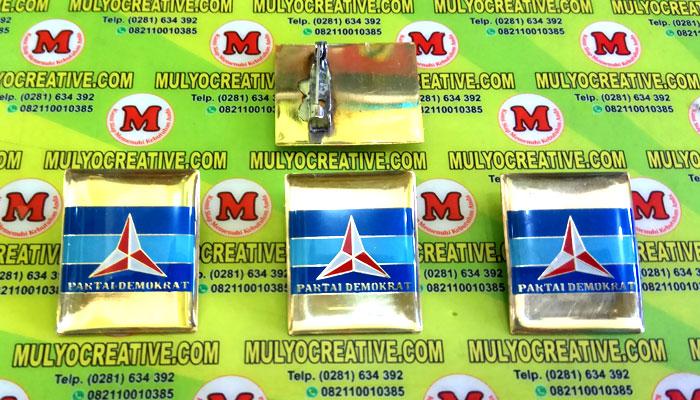 Pin Demokrat, Lencana Pin Partai Demokrat, Order dan Pesan sekarang juga di Mulyo Creative