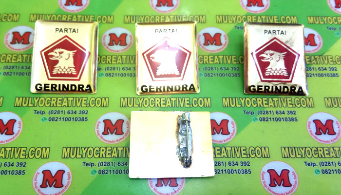 Pin Gerindra terbuat dari logam kuninganOrder dan Pesan sekarang juga di Mulyo Creative