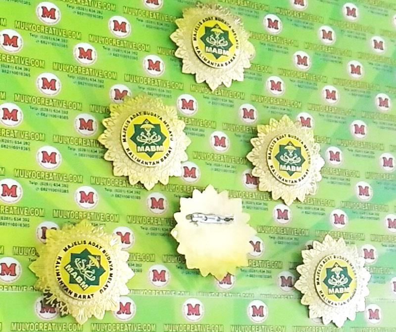 Pin Lencana Majelis Adat Budaya Melayu Kalimantan Barat Mulyocreative