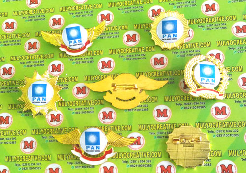 Beragam Pin PAN, Lencana Pin Partai PAN, Order dan Pesan sekarang juga di Mulyo Creative