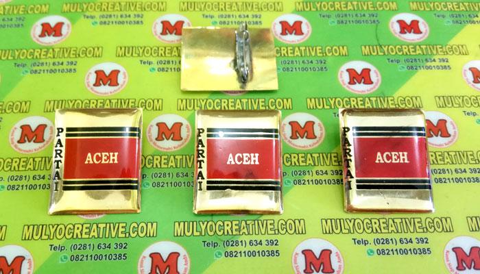 Pin PA, Lencana Pin Partai Aceh, Order dan Pesan sekarang juga di Mulyo Creative