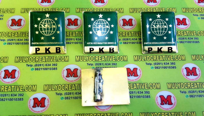 Pin PKB terbuat dari logam kuninganOrder dan Pesan sekarang juga di Mulyo Creative