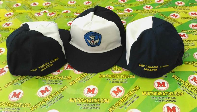 Topi Bordir Logo untuk SMP