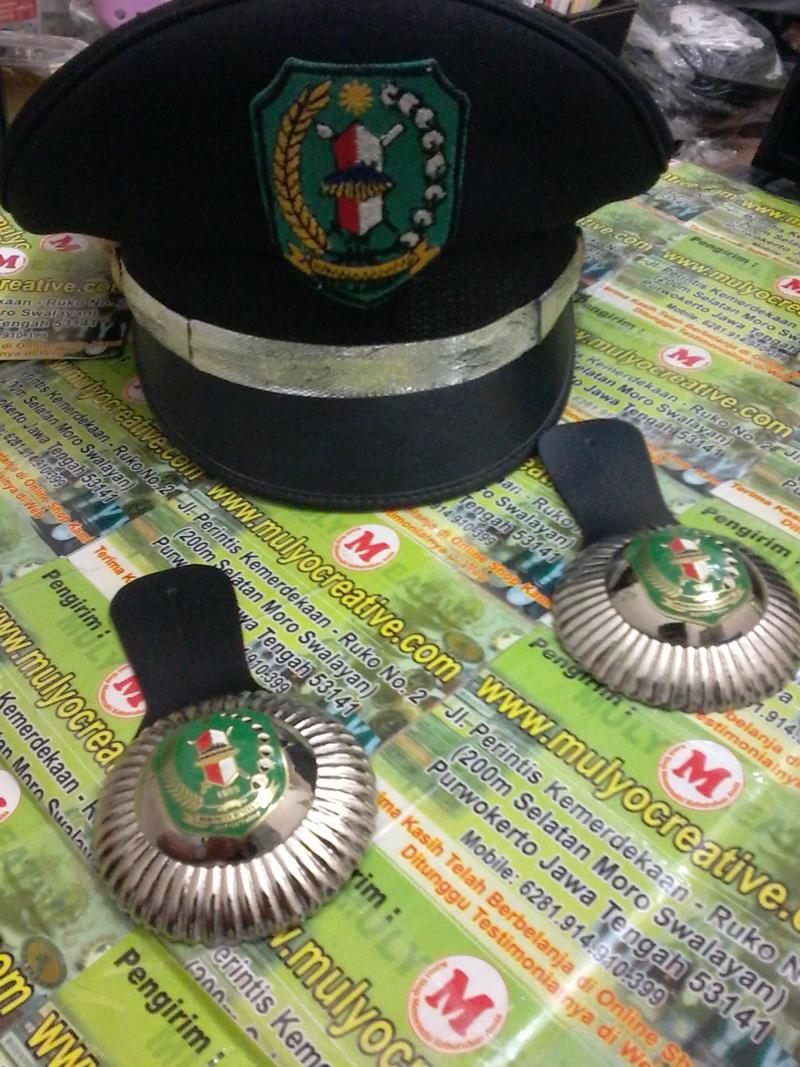 Topi Lurah, Topi Kepala Desa + Lencana Jabatan Lurah, Lencana Jabatan Kepala Desa